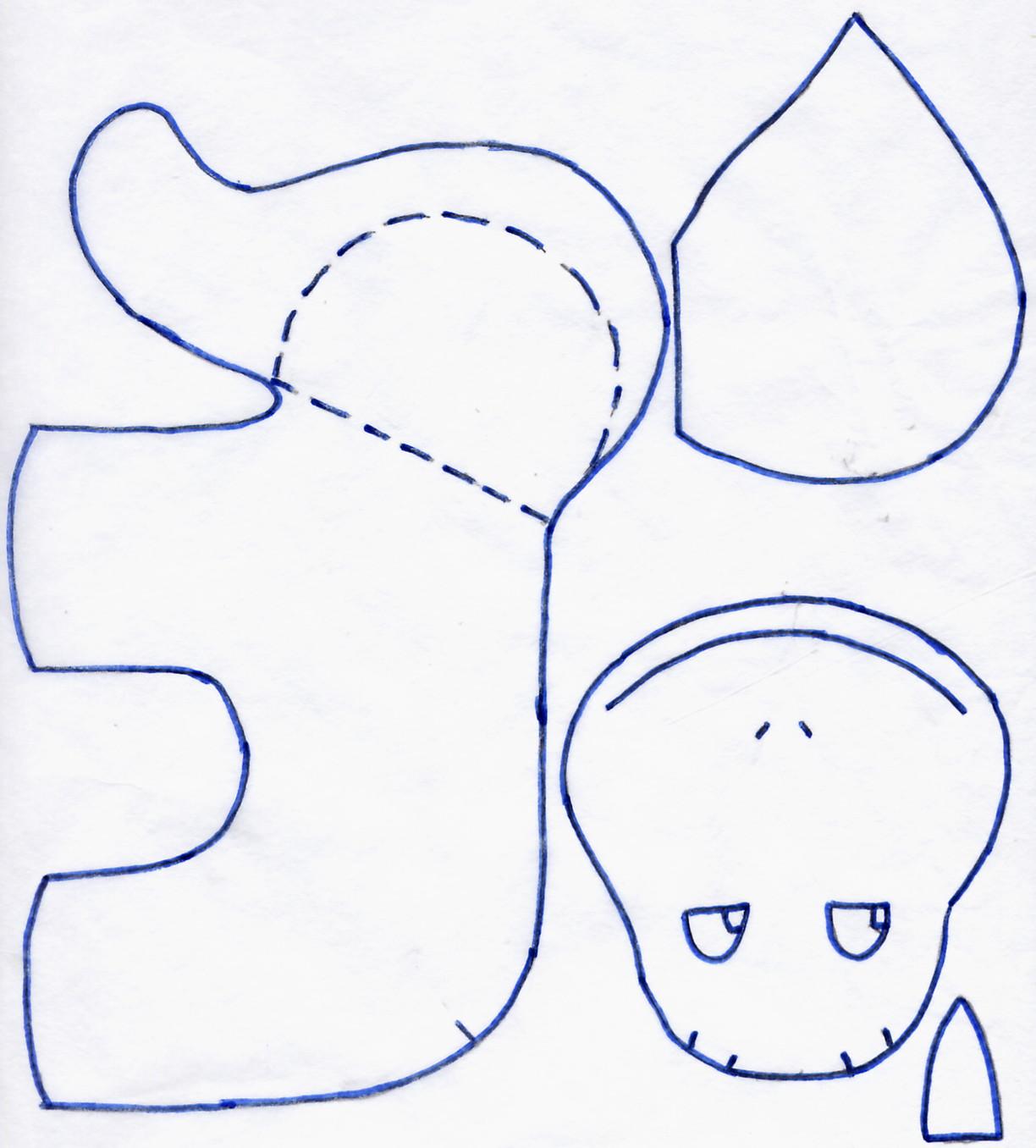 patron couture hippopotame